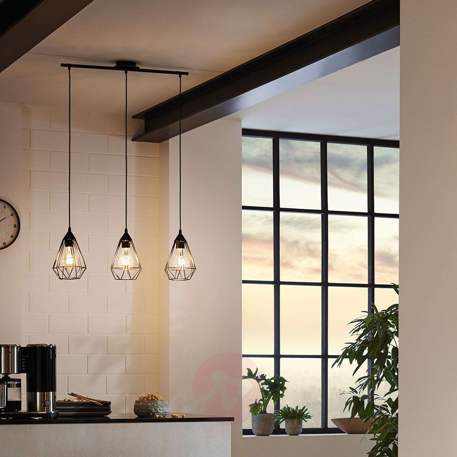 Suspension Tarbes 3 lampes style Vintage-3031861-01