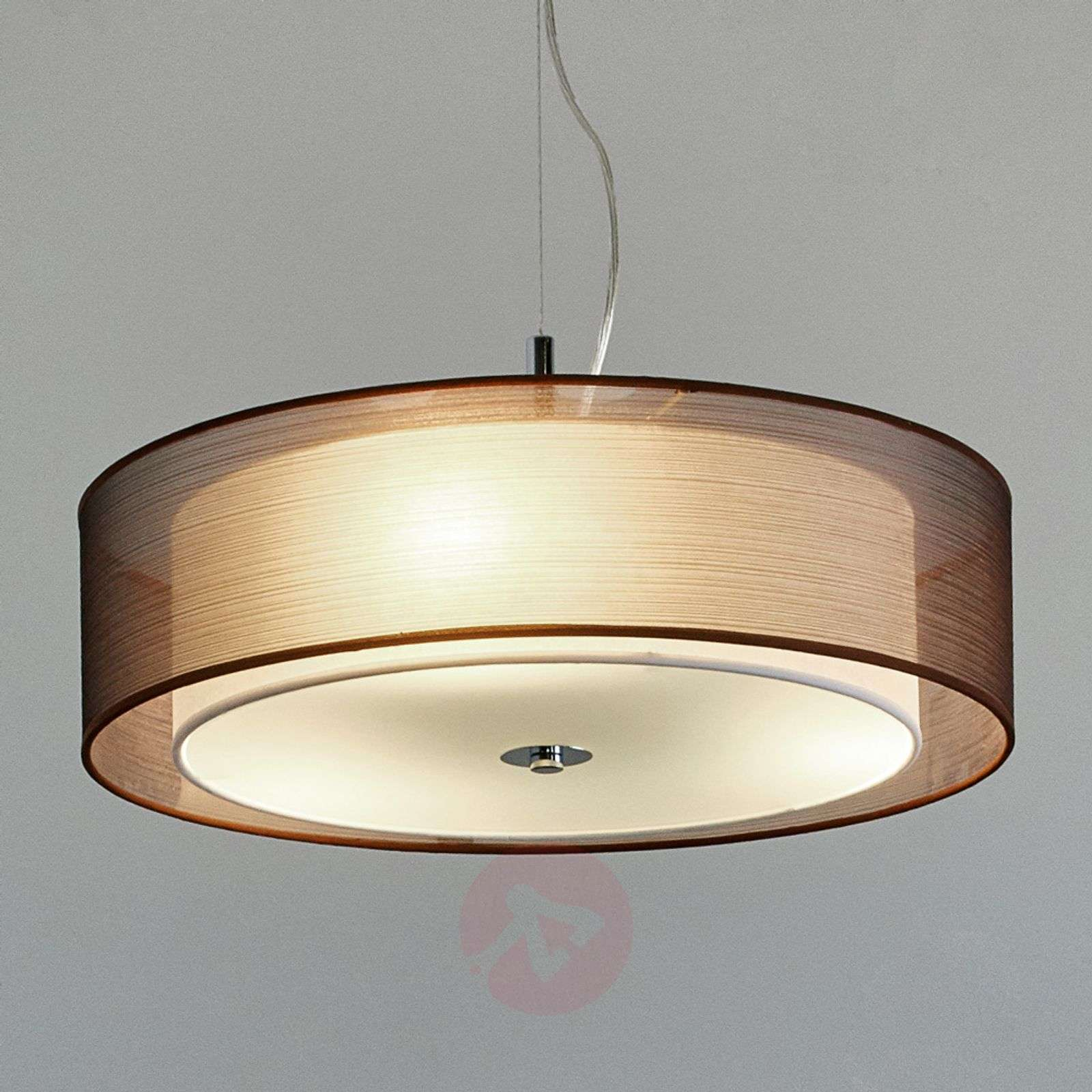 Tissu Couleur Pikka Suspension Led Chocolat cj354RLAqS
