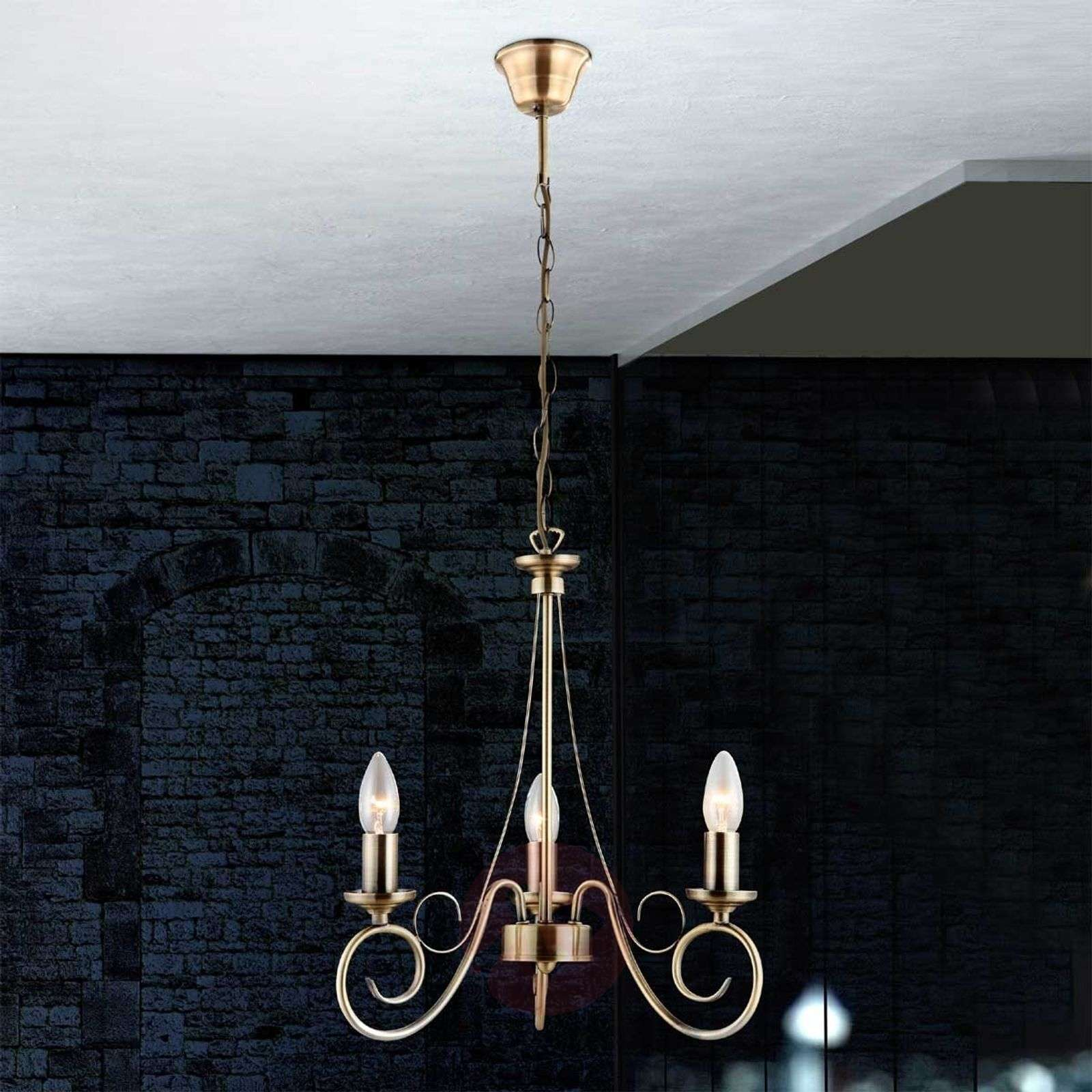 suspension truncatus 3 lampes en laiton ancien. Black Bedroom Furniture Sets. Home Design Ideas