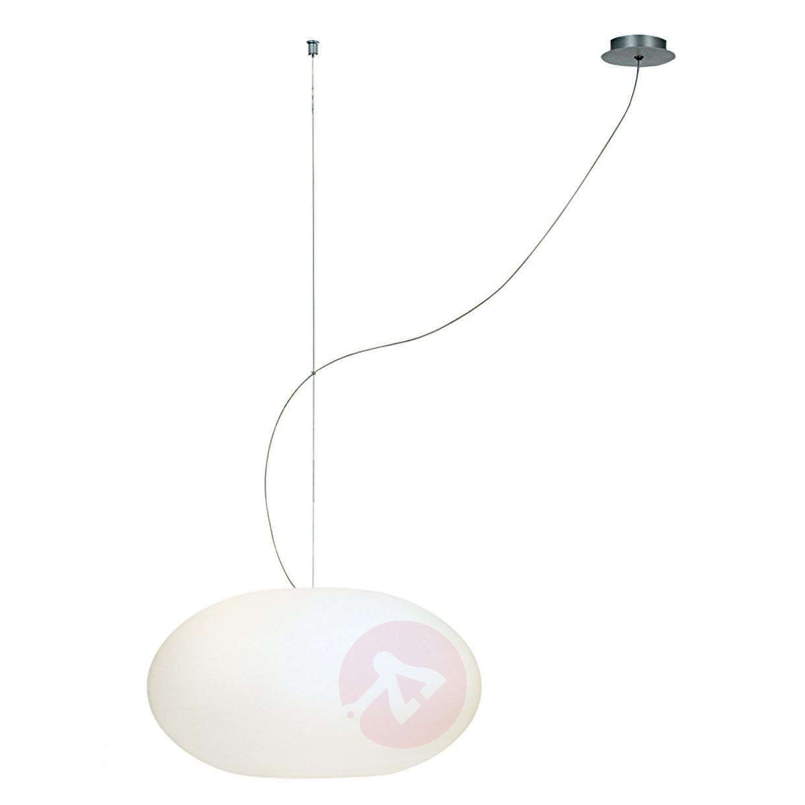Suspension verre Aih 38 cm blanche brillante-2000228-01