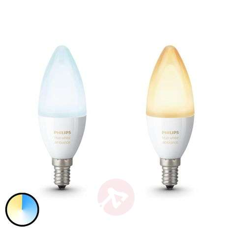 2 ampoules flamme Philips HUE White Ambiance E14