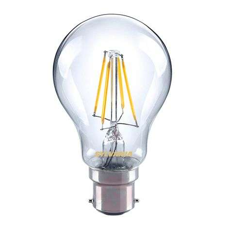 Ampoule à filament LED B22 4 W 827, transparent