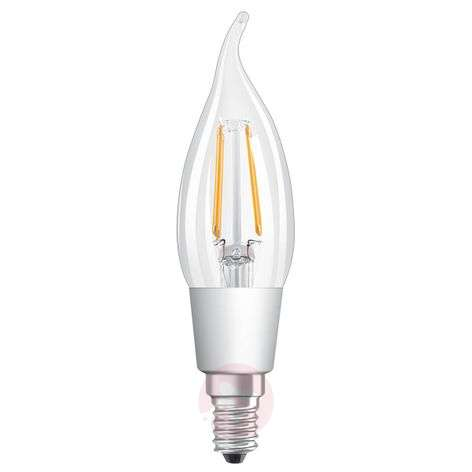Ampoule flamme LED E14 5W, blanc chaud, dimmable