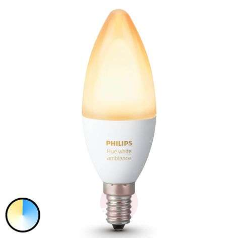 Ampoule flamme Philips HUE White Ambiance E14 6 W-7531918-31