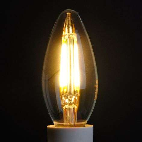 Ampoule LED bougie E14 4W 827, transparent-9945103-31