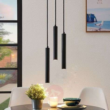 Arcchio Franka Suspension LED, 3 lampes, ronde