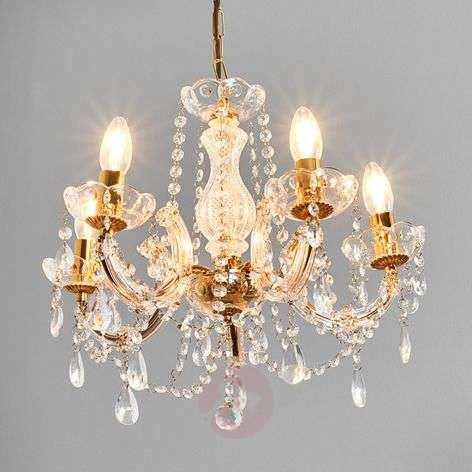 Beau lustre MARIE THERESE à 5 lampes