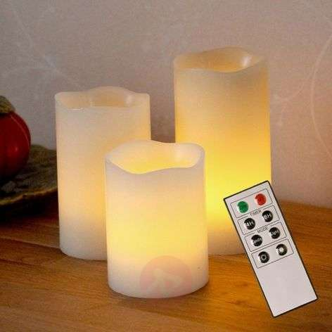 Bougies LED décoratives Candle Wax en cire