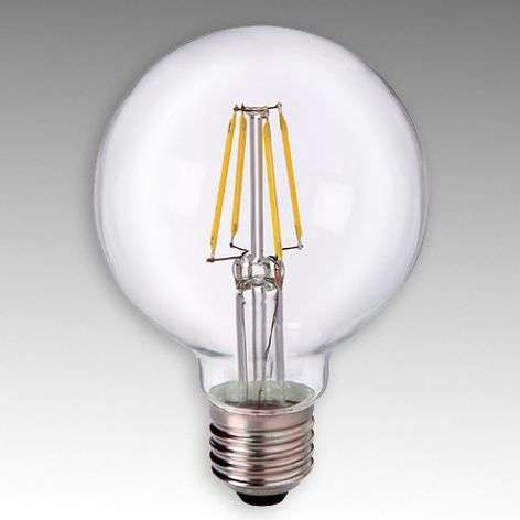 Globe LED E27 4 W 827 G80 transparent
