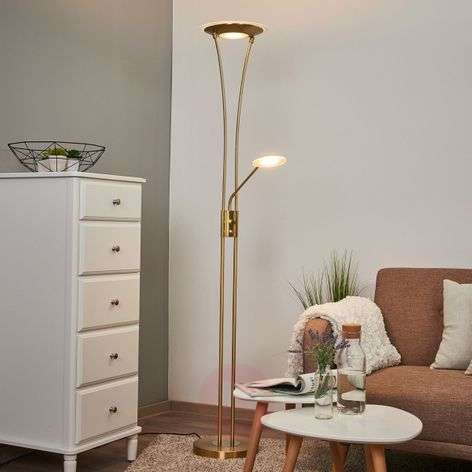 lampadaire clairage indirect led blanc eda. Black Bedroom Furniture Sets. Home Design Ideas