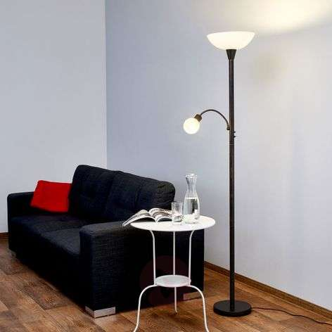 lampadaire rustique led elaina couleur rouille. Black Bedroom Furniture Sets. Home Design Ideas