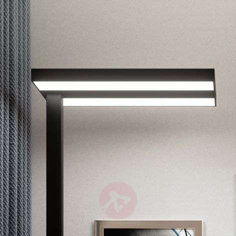 Lampadaire Office LED Logan noir, dimmable
