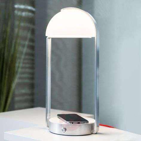 Lampe A Poser Led Brenda Chargeur Induction Luminaire Fr