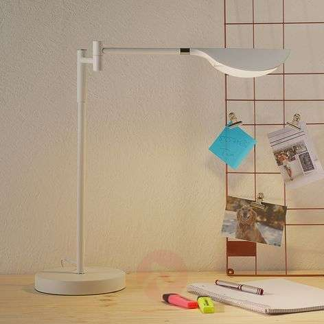 Lampe à poser LED Finnley, blanc mat, dimmable