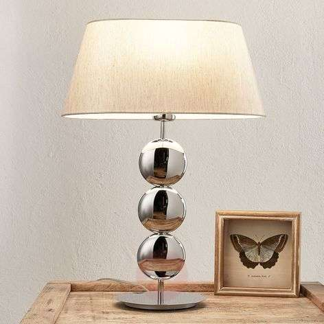 Lampe A Poser Stylee Sofia Pied Argente Luminaire Fr