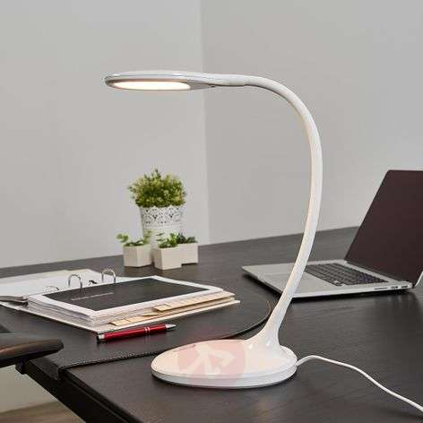 Lampe de bureau LED Aijana, à intensité variable