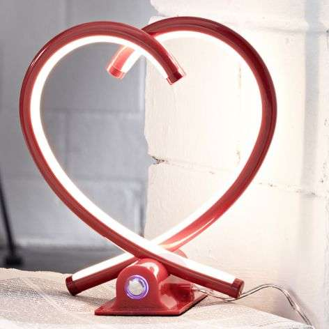 Lampe de table LED Valentin, rouge