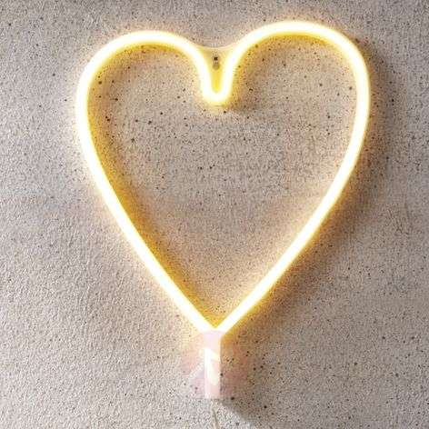 Lampe décorative LED Heart, USB, à piles
