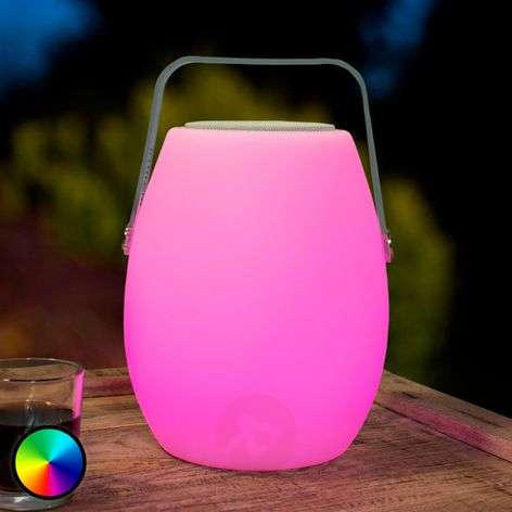 Lampe LED décorative portative Barrel avec son