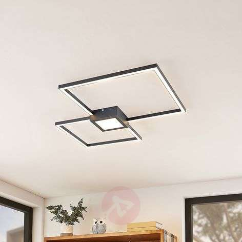 Lindby Duetto plafonnier LED anthracite 28W