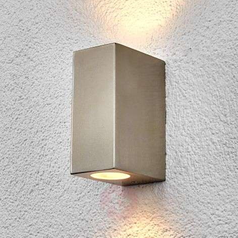 Lindby Haven applique, inox, 2 lampes, 14 cm