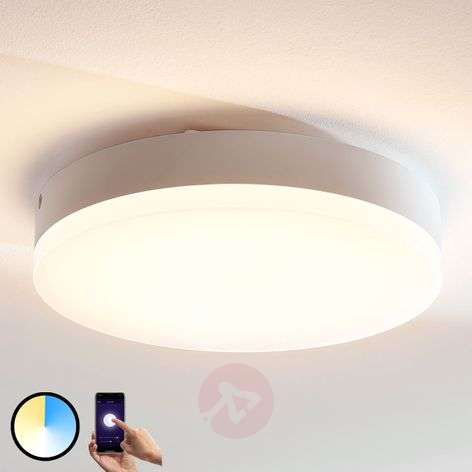 Lindby Smart plafonnier LED Chester, rond