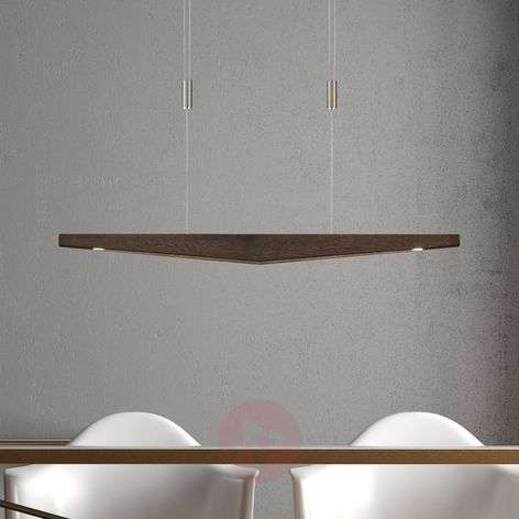 Lucande Dila suspension LED chêne colonial 88 cm