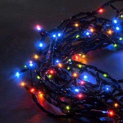 Micro-guirlande LED ext. multicolore 80/180 lampes
