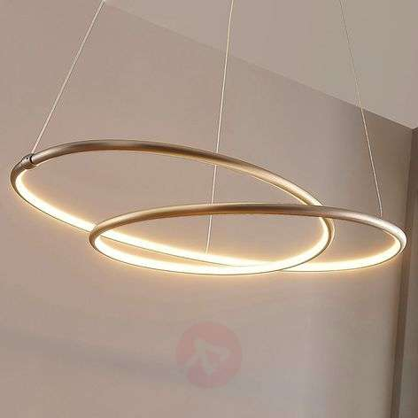 Mirasu - suspension LED gracieuse, nickel