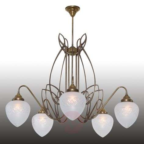 Pauline suspension en laiton 5 lampes-1542135-31