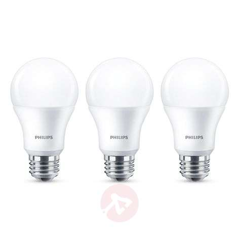 Philips E27 ampoule LED A60 9 W 2 700 K mate lot 3