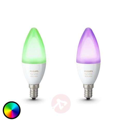 Philips Hue ampoule flamme RGBW E14 6,5 W lot de 2