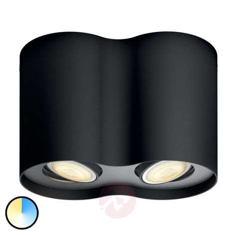 Philips Hue White Ambiance Pillar 2 lampes noir
