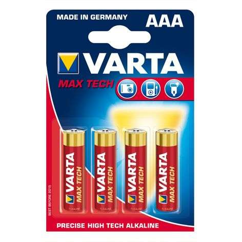Piles Max Tech AAA Micro 4703 par lot de 4