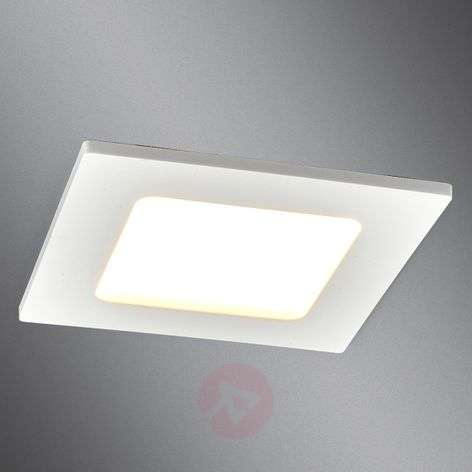 Plafonnier encastrable LED carré Feva blanc, 5W