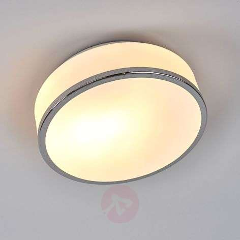 Plafonnier Flush argent satiné IP44