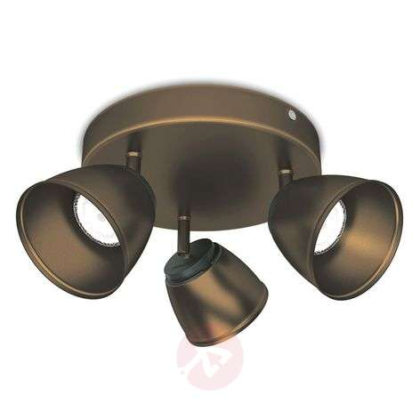 Plafonnier LED County rond, bronze