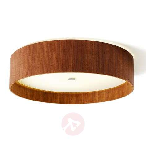 Plafonnier LED Lara wood en bois de noyer 55 cm