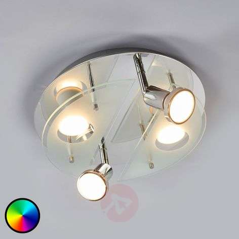 Plafonnier LED RGBW rond Cabo-C