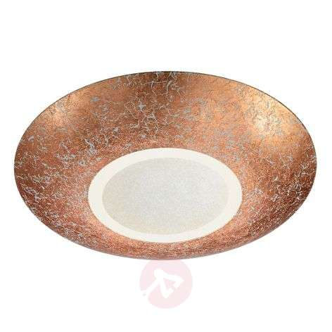 Plafonnier LED rond Chiros cuivre