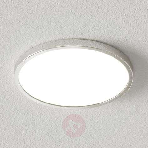 Plafonnier LED Solvie rond et chromé, dimmable