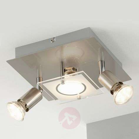 Plafonnier LED Start nickel mat - 3 lampes