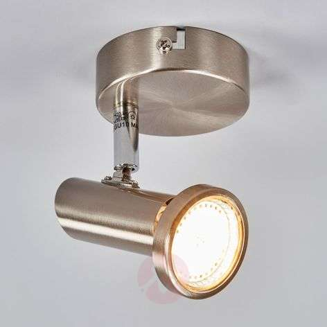 Projecteur mural LED Cosma couleur nickel