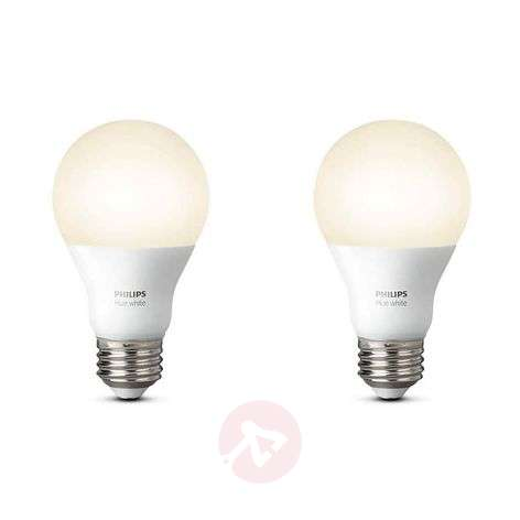 Set de 2 Philips Hue White E27 de 9,5 W