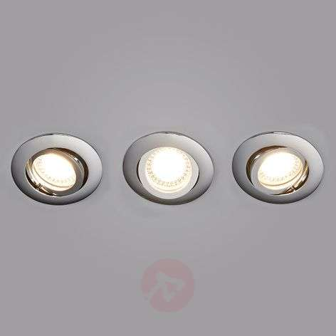 Set de 3 spots encastrés LED Lisara chromés ronds-9950355-31