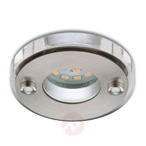 Spot encastré LED Nikas IP23 nickel mat-1510269-31