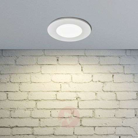 Spot LED encastrable Kamilla blanc, IP65