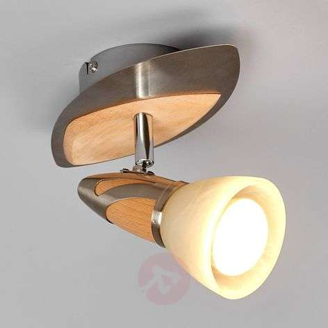 Spot Marena avec applications en bois, LED E14 R50