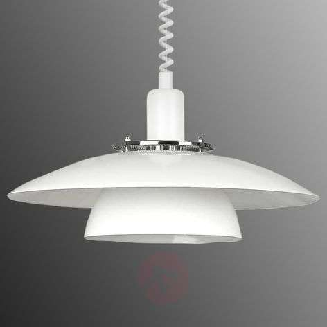 suspension brenda blanche rglable - Luminaire Lot Central Cuisine