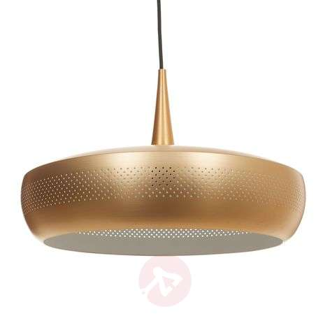Suspension Clava Dine, abat-jour couleur laiton